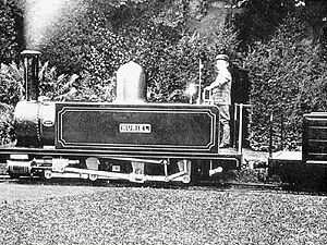 Ravenglass and Eskdale Railway locomotives - Muriel, whilst at the Duffield Bank Railway