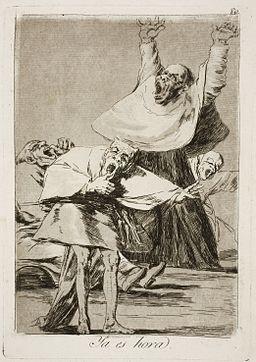 Museo del Prado - Goya - Caprichos - No. 80 - Ya es hora
