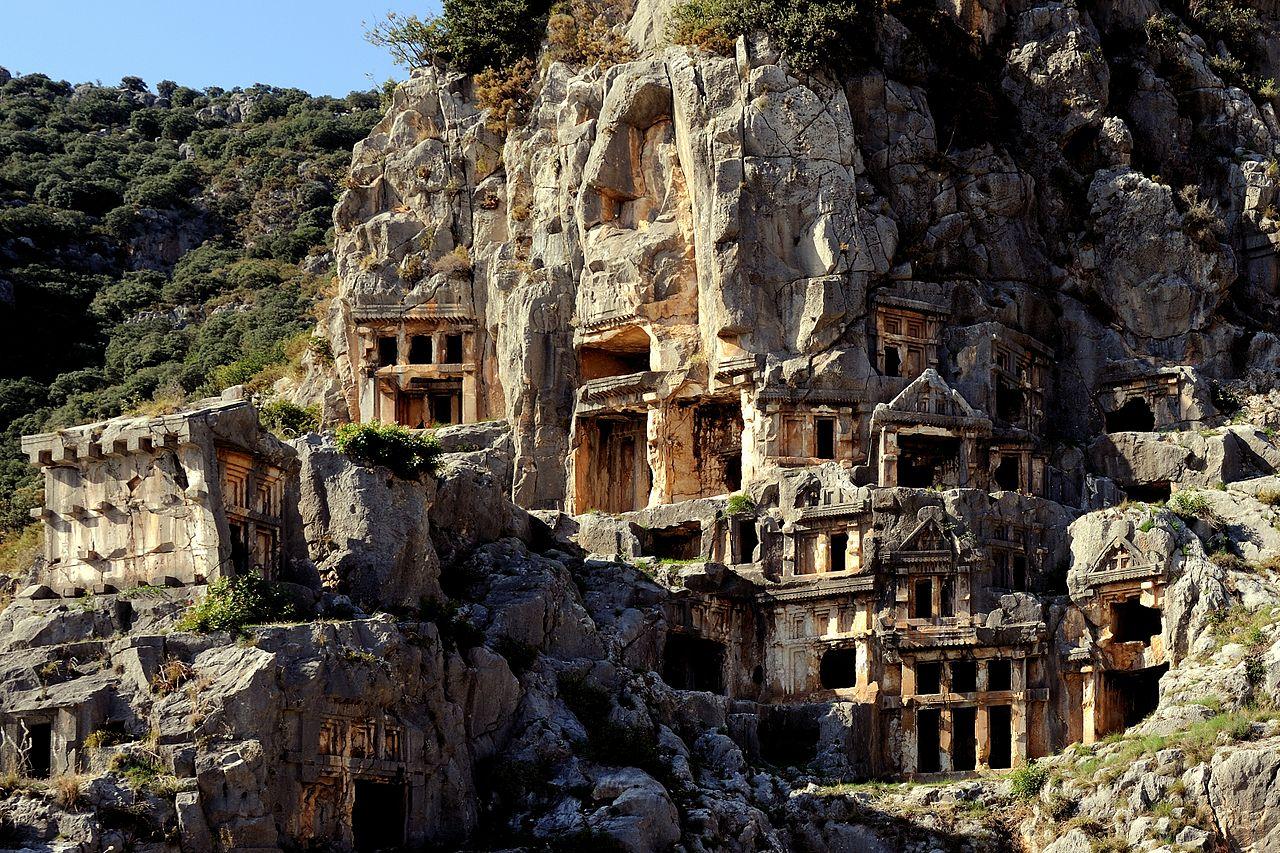 File:Myra Rock Tombs.jpg - Wikimedia Commons