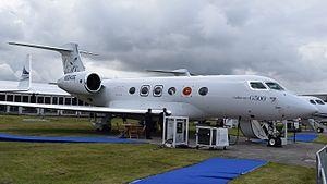 Gulfstream G500/G600 - G500 on display at Farnborough International Airshow 2016
