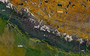 NASA Landsat 7 Nepal