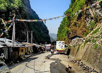 Araniko Highway - Image: NEPAL Route 2