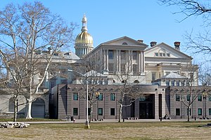 Government of New Jersey - New Jersey's State House in Trenton, New Jersey, seen from the west