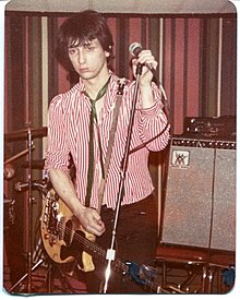Thunders in 1979 Performing at the VFW Post in Ann Arbor, Michigan in July 1979. He was then collaborating with Wayne Kramer of MC5, as 'Gang War'.
