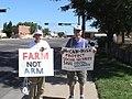 NM Unions Protest John McCain at Hotel Albuquerque (2673716542).jpg