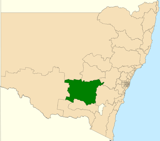 Electoral district of Cootamundra - Location in New South Wales