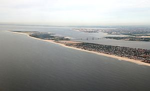 Rockaway, Queens - Aerial view of the Rockaway Peninsula (looking west)