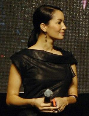 Nadya Hutagalung - Nadya Hutagalung at the LG New Chocolate Phone launching event, in Hong Kong, November 2009