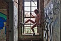 Naked man posing by the window inside an abandoned military building in Fort de la Chartreuse, Liege, Belgium (DSCF3401).jpg
