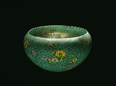 Namikawa Sosuke - Bowl with Chrysanthemum Blossoms