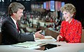 Nancy Reagan in an Interview with Tom Brokaw at the 1984 Republican National Convention in Dallas Texas (cropped).jpg
