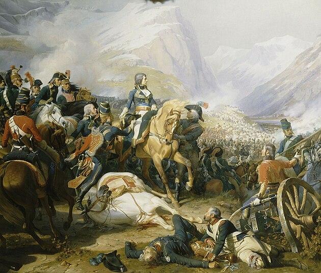 Бонапарт в битве при Риволи. Филиппото (1845)