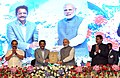 Narendra Modi being presented a memento by the Governor of Maharashtra, Shri C. Vidyasagar Rao at Sesquicentennial function of Advocates' Association of Western India, in Mumbai.jpg