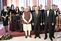 Narendra Modi with the various artists, who performed during the official lunch hosted by the President of the Republic of Kazakhstan, Mr. Nursultan Nazarbayev, at Akorda President's Palace, in Astana, Kazakhstan.jpg