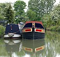 Narrowboats on canal arm (2) - geograph.org.uk - 1302279.jpg