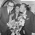 Nationaal Songfestival 1966. Milly Scott wint, v.l.n.r. Gerrit den Braber , Mill, Bestanddeelnr 918-7512.jpg