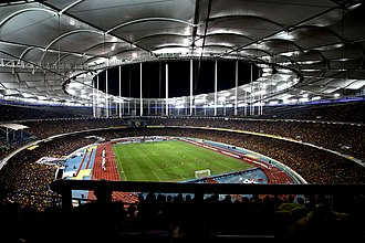 Malaysia national football team - Image: National Stadium Bukit Jalil 2014 AFF Suzuki Cup final