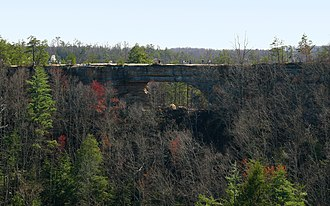 Natural Bridge State Resort Park - Natural Bridge as viewed from Lookout Point