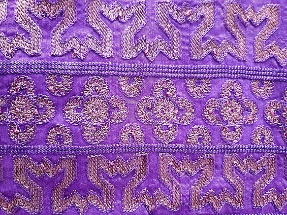 Embroidery on an Indian dress