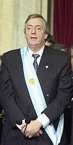 Néstor Kirchner: elegido presidente de Argentina en 2003 con mandato hasta 2007