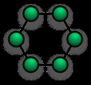 Gambar menunjukkan diagram jaringan cincin