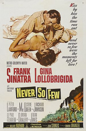 Never So Few - Theatrical release poster by Reynold Brown