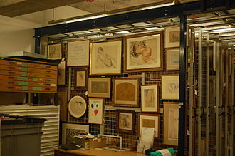 The New Art Gallery Walsall - The basement art store holds works that are not on display