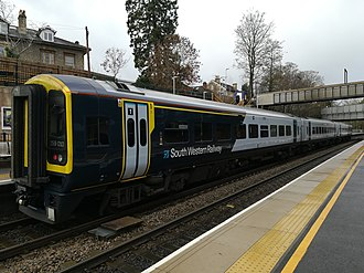 South Western Railway (train operating company) - Image: New SWR livery variation