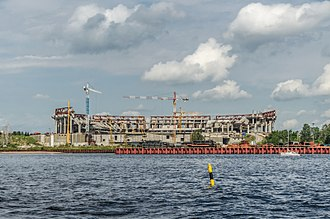 Krestovsky Stadium - Image: New football stadium construction site in SPB 01