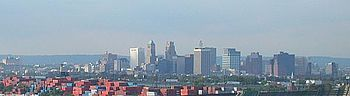 Skyline of downtown Newark