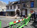 Newport Lower St James Street road closure after bus accident in March 2012 2.JPG
