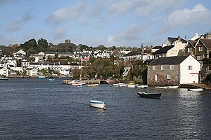Newton and Noss - Noss Mayo and Noss Creek in the foreground.
