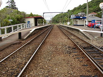 Ngaio railway station - Ngaio railway station, looking south in the direction of Crofton Downs station.