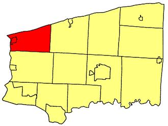 Porter, New York - Location within Niagara County.