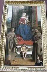 La Vierge et l'Enfant trônant entre Saint François, Saint Antoine et deux donateurs