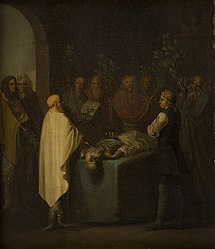 Nicolai Abildgaard: Niels Klim Attends the Sentencing of the Deceased Potuan Prince.