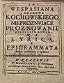 Nieproznujace proznowanie ojczystym rymem na lirica i epigrammata polskie rozdzielone y wydane. 1674 (11243880).jpg