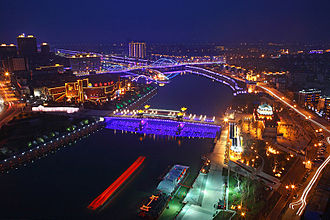 Huzhou - Image: Night in Huzhou
