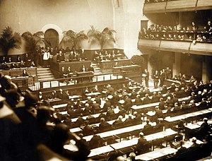 League of Nations - The official opening of the League of Nations, 15 November 1920
