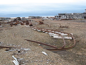 Nordvik, Russia - View of the Nordvik ruins.