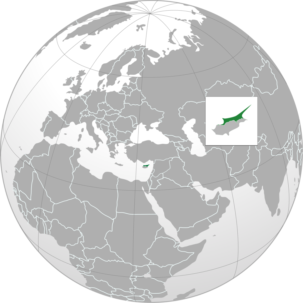 Norhern Cyprus (orthographic projection)