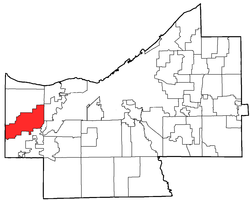 Location of North Olmsted in Cuyahoga County
