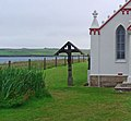 North shore machair and northwest corner of Italian Chapel, Lamb Holm - geograph.org.uk - 535962.jpg