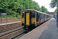 Northern Rail Class 150, 150220, Westhoughton railway station (geograph 4531834).jpg