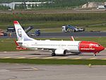 Norwegian Air Shuttle Boeing 737-8JP LN-DYI at HEL 05JUN2015 01.JPG