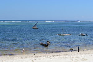 Nyali Beach from the Reef Hotel during high tide in Mombasa, Kenya 48.jpg