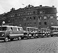 Nyugati (Marx) tér a Westend-ház előtt. Budapesti Közlekedési Napok, gépjárművek felvonulása a FKBT szervezésében. Fortepan 89581.jpg