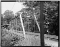 OBLIQUE VIEW OF EASTERN PORTAL - North Carolina Route 1412 Bridge, Spanning Leepers Creek, Laboratory, Lincoln County, NC HAER NC,55-LAB.V,1-2.tif