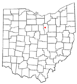Location of Ashland, Ohio