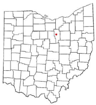 Ashland, Ohio - Image: OH Map doton Ashland